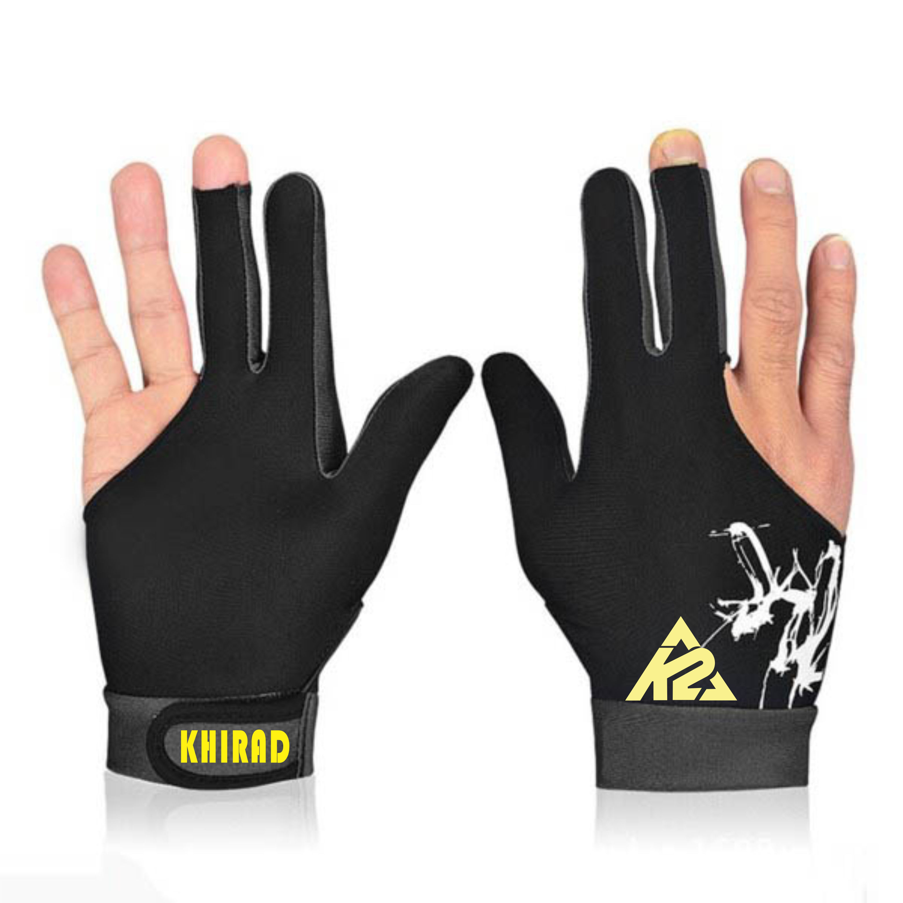New Style 2020 Wholesale Custom 3 Finger Pool Billiard Gloves With Made Lycra.