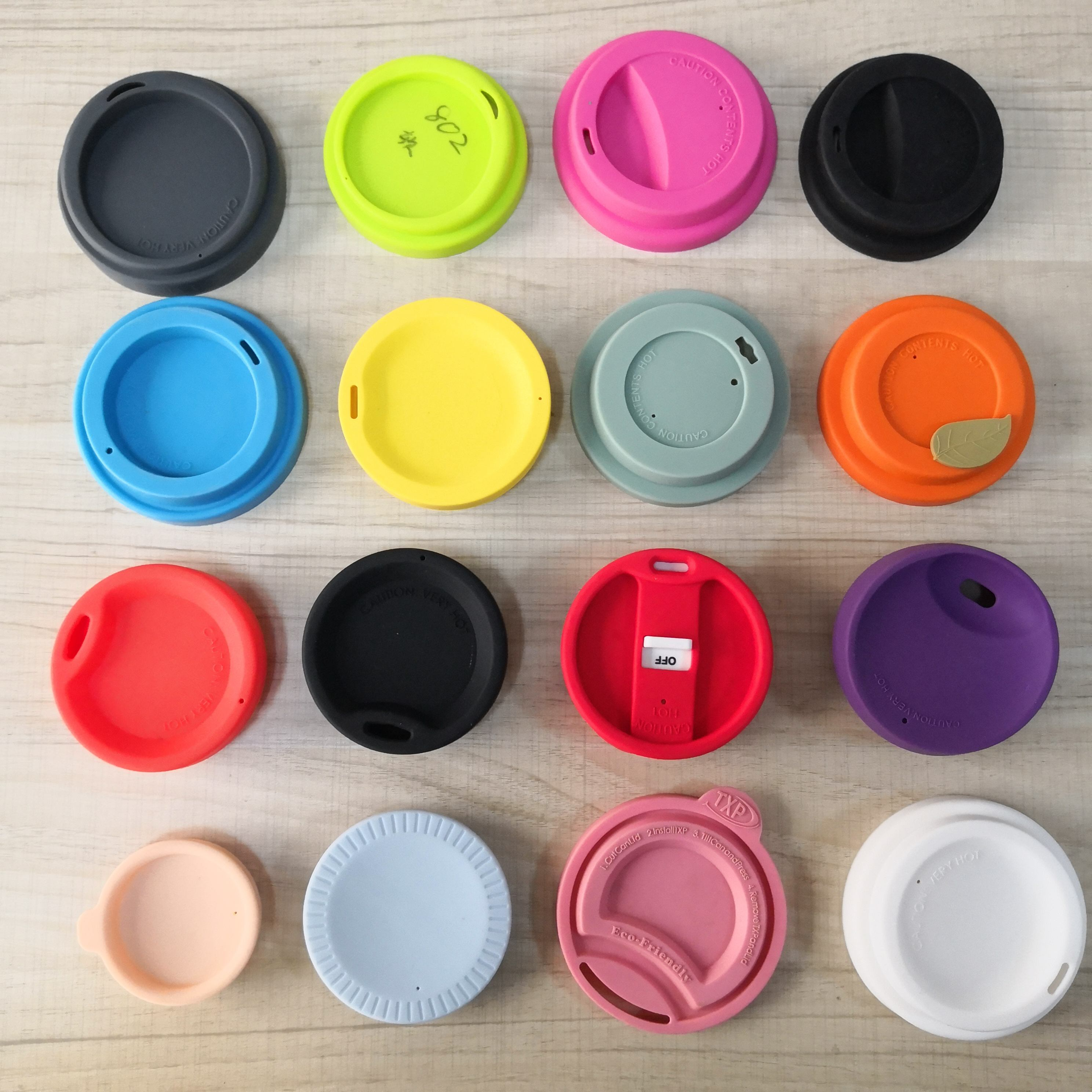 Custom Reusable Silicone Ceramic Cup Cover ,Stainless steel cup lid