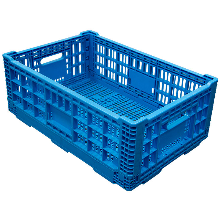 Plastic mesh Folding Crates For Vegetable Fruits China Manufacturing Cheap Price Storage Packing Boxes Sale