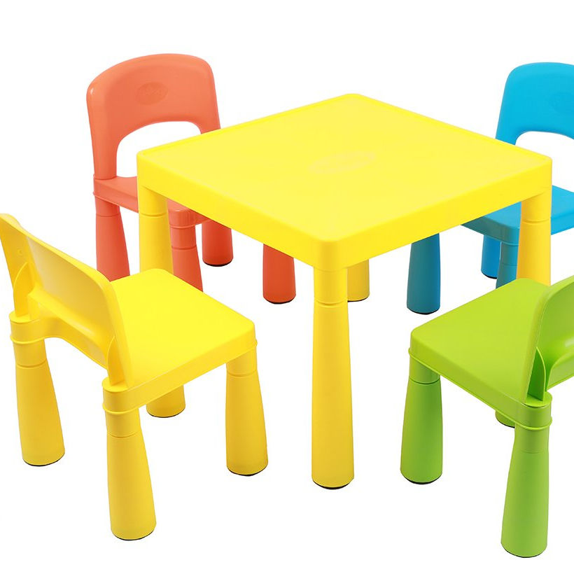 Plastic Small Colorful Study Table and Chair Set from Vietnam - Children Furniture Sets for Kindergarten, Daycare, School