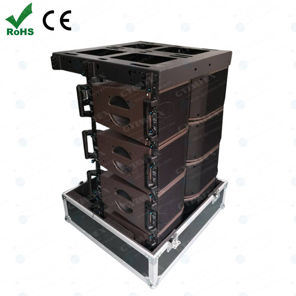 "GYIMPEX AUDIO Dual 8"" Line Array Speaker Active Neodyminun Tower Speaker System Mini Line Array Speakers KR208"