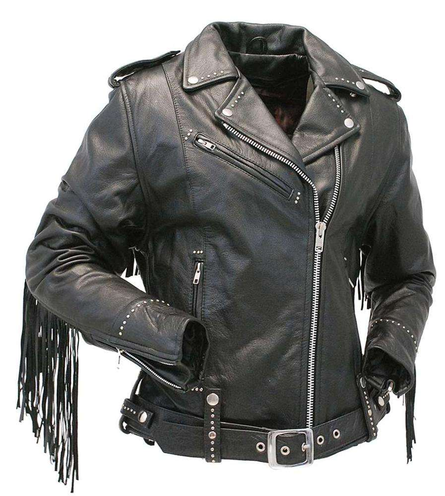 Fringe fashion genuine leather jackets skirts pants with various colors designs in leather jackets