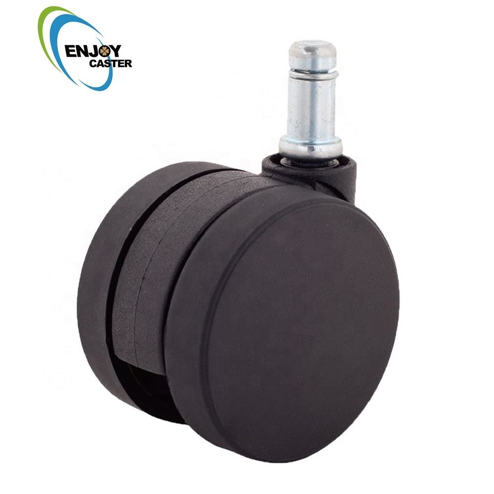 60mm nylon Silicone Furniture Bed caster wheel