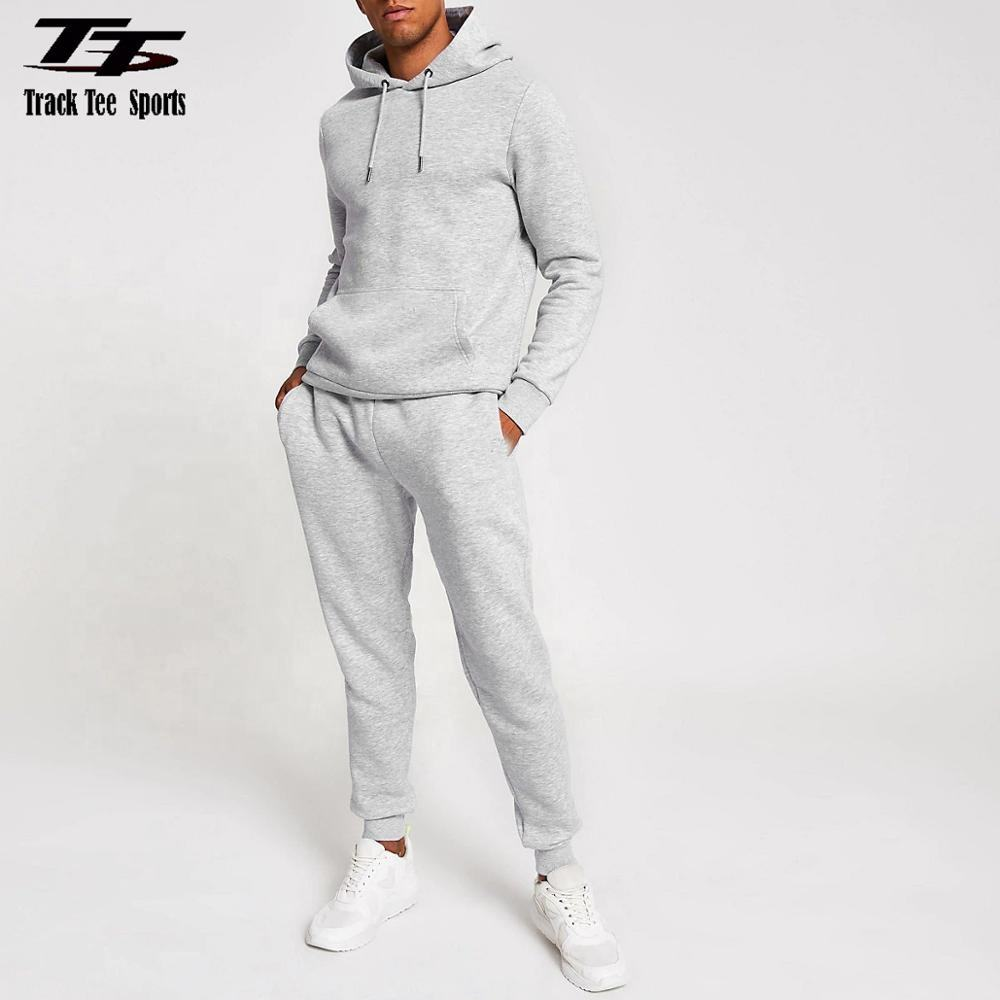 Top fashion trendy tracksuits custom grey tracksuit men french terry sweatsuit (paypal accepted)