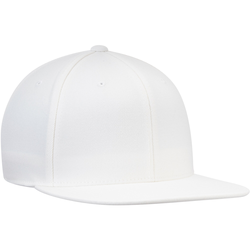 Custom Adult Flat Bill Hat Snapback 6 Panel Screen Print Embroidery Available One Size Fits All White