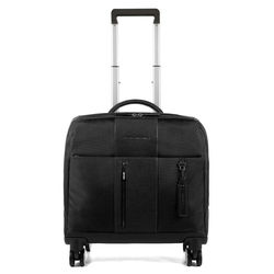 Italian High Quality Cabin Luggage made with Real Leather and Textiles Piquadro