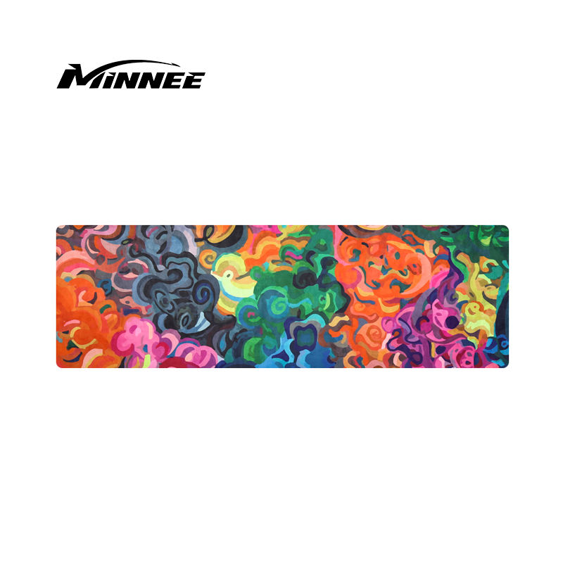 MINNEE Wholesale Custom Print Eco Friendly Suede Rubber Yoga Mat