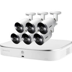 Lorex 8-Channel 4K UHD NVR with 3TB HDD & 6 4K Smart Deterrence Night Vision Bullet Cameras