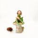 resin crafts and art green cute girl sitting on the mushroom for shelf decoration home decorative sculpture