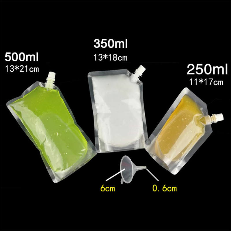 China manufacturer Stand up pouches liquid plastic screw top capers bag on sale