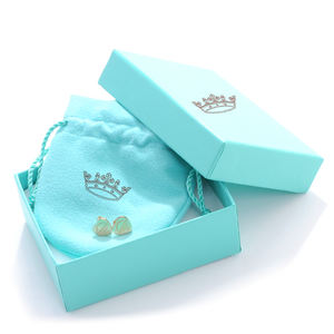 Velvet women jewelry ring box with Logo jewelry box and pouch packaging jewelry box packaging pouch