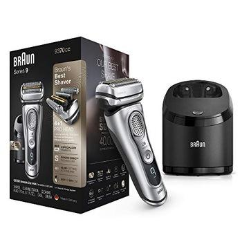 New-Braun Electric Razor for Men Series 9 9370cc 9290cc Electric Shaver With Precision Trimmer Rechargeable Wet & Dry Foil