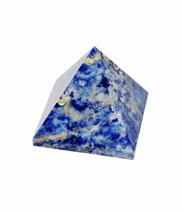 Sodalite Agate Stone Pyramids: Small size (20 mm) to your Customized size : Wholesaler and supplier of agate Products