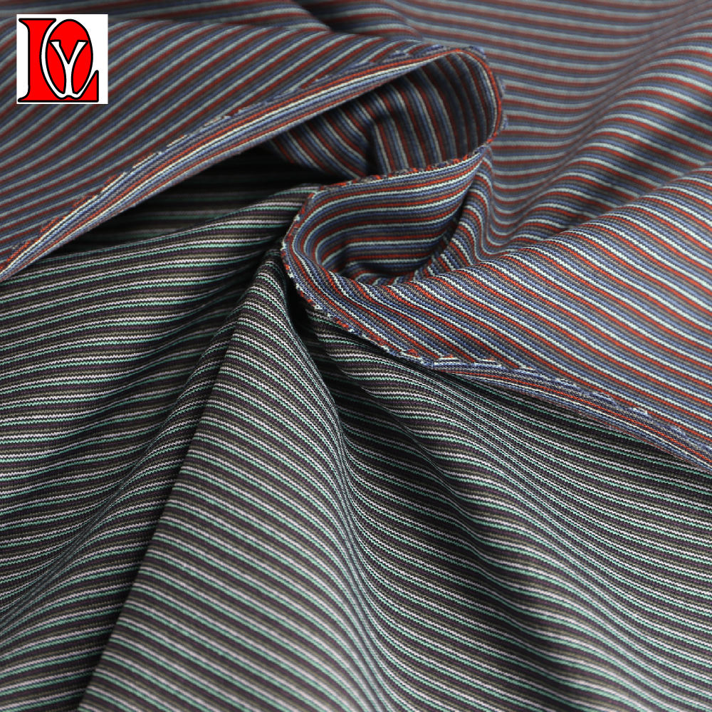 92% nylon 66 full dull tactel 8% spandex yarn dyed stripe jersey fabric with softer