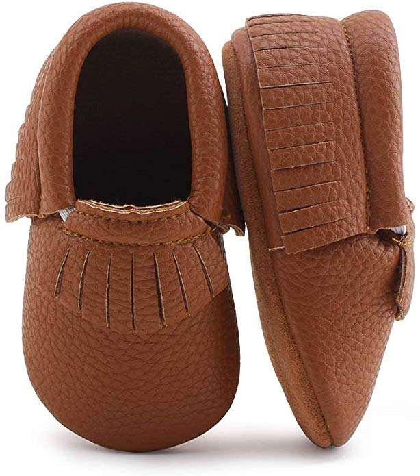 Leather Baby Moccasins Baby Girl Shoes