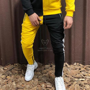 Men Running Jogging Sweatpants running Pant Men Two-tone splice Gym Training Pant Sportswear Joggers Sports Pants