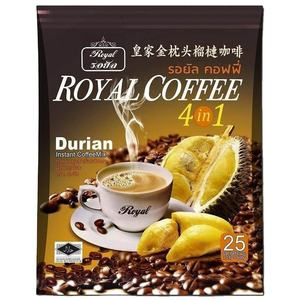 Neutral Taste Thai Royal Gold Pillow Durian Instant Coffee Powder With Fruit Flavor