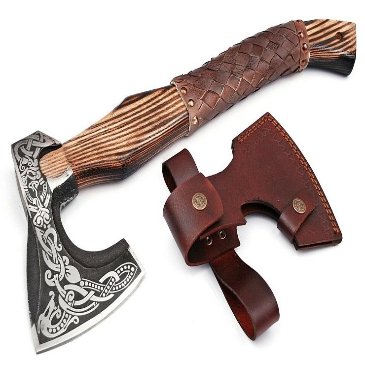18'' inches Custom hand made casting steel hunting axe outdoor camping tool