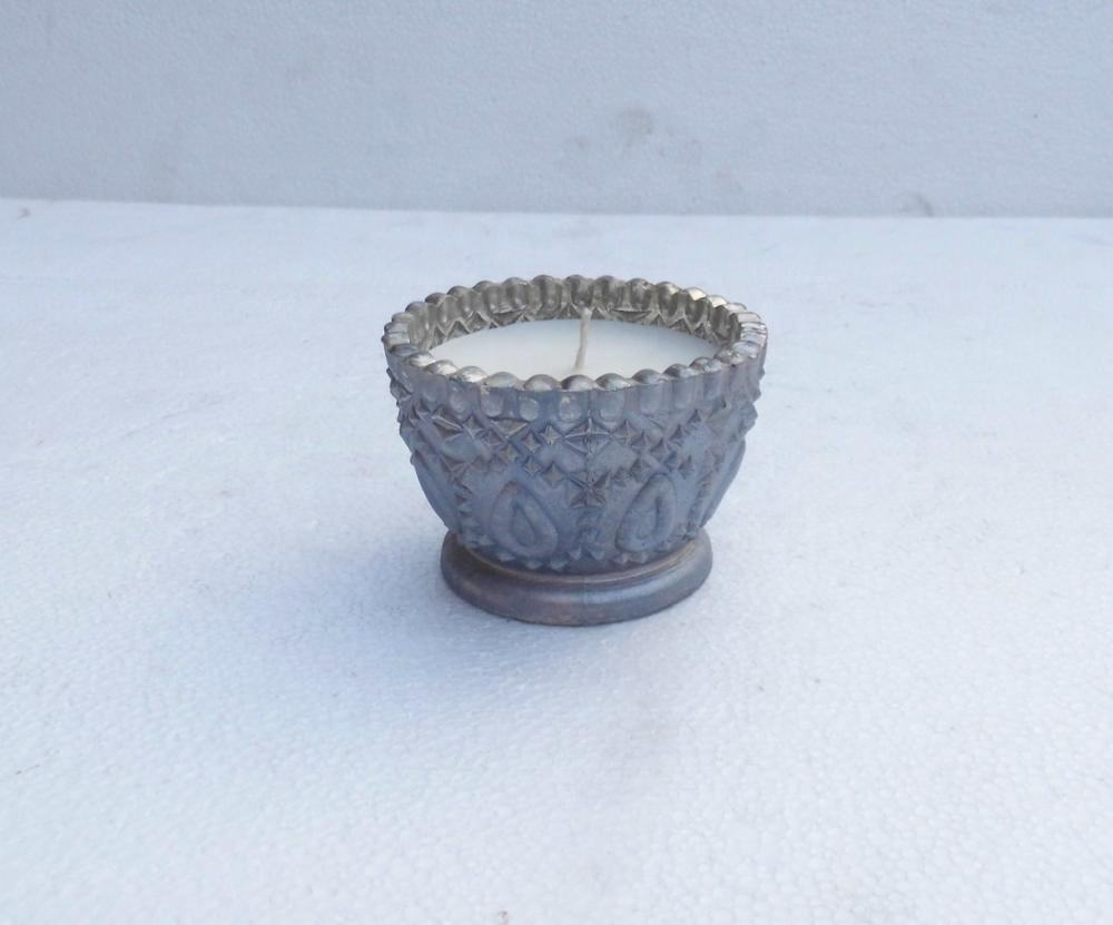 New design low cost glass candle votive scented with wax