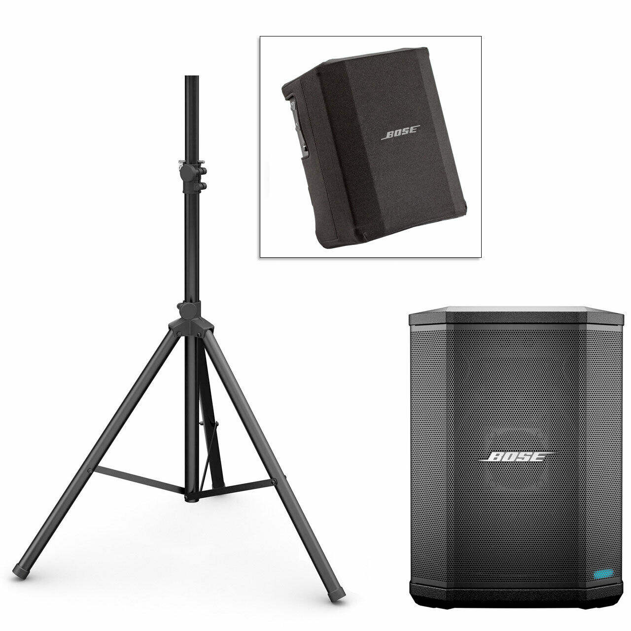 100% Originele Nieuwe Boses S1 Pro Pa Systeem W/Speaker Stand Snelle Levering Play-Cover-Bo nue Zwart