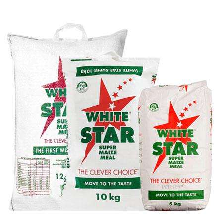 WHITE/YELLOW 25KG BAGS SUPER MAIZE MEAL