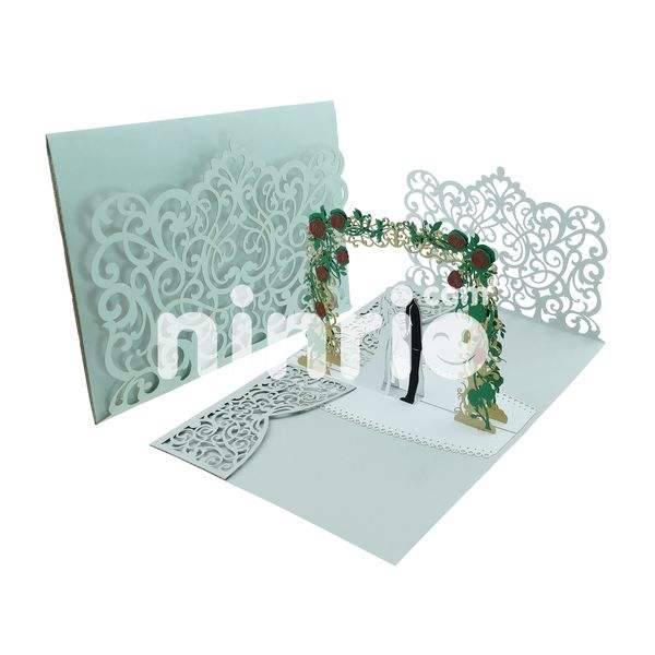 Customise wedding invitation 3d pop up card
