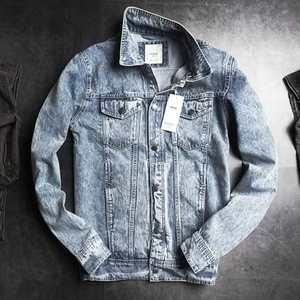 Mens Denim Long Sleeve Casual Cotton Button Cover Coat Autumn Winter Vintage Jackets Tops Blouse Coat Brand Bangladesh Stock Lot