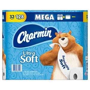 Ultra Soft Bathroom Tissue Toilet Paper Case Pack of 32 Big Rolls