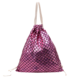 Fish-scale Pattern Travel Drawstring Bag Pocket Elastic Fabric Drawstring Backpack Large Capacity Pouch Schoolbag Draw String