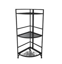 Tailor Made Multifunctional Steel Black 3-Tier Foldable  live rack For Bathroom