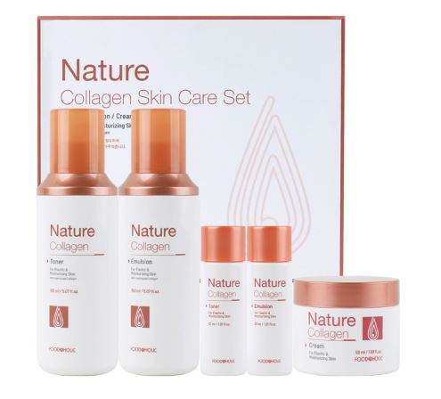 Korean cosmetics Composition of three collagen-nature skin care