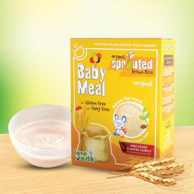 Organic Sprouted Brown Rice Baby Puree