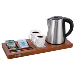 Easton High Quality Hotel Electric Tea Kettle Tray Set with 2 Mugs and 2 Spoons