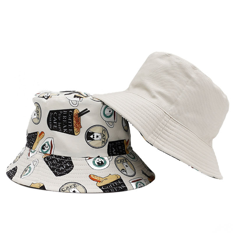 Promotional custom made fashion new design Double-sided fisherman hat womens bucket hat