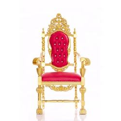 Best Antique Armchair Throne Francesca Queen Or King Throne in Red and Gold