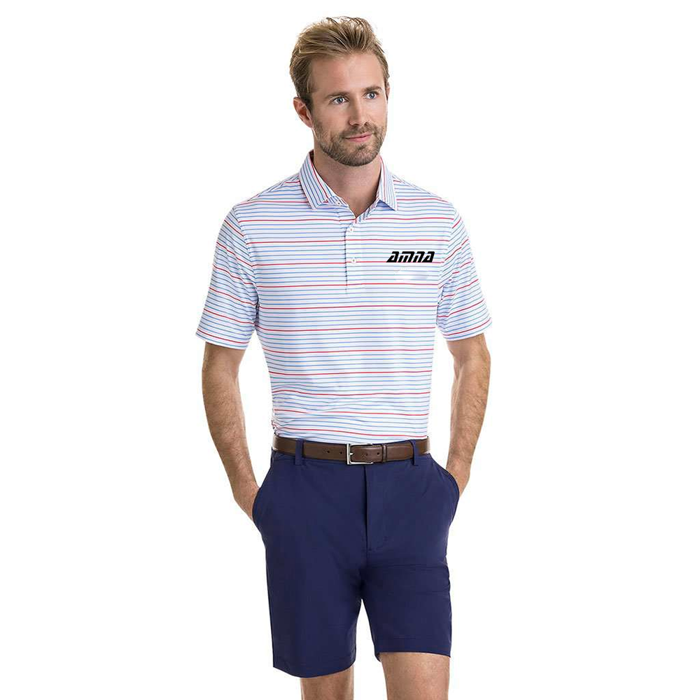 New Colorful Stripped Custom Polo T Shirts For Men With Denim Made Jeans For Sale