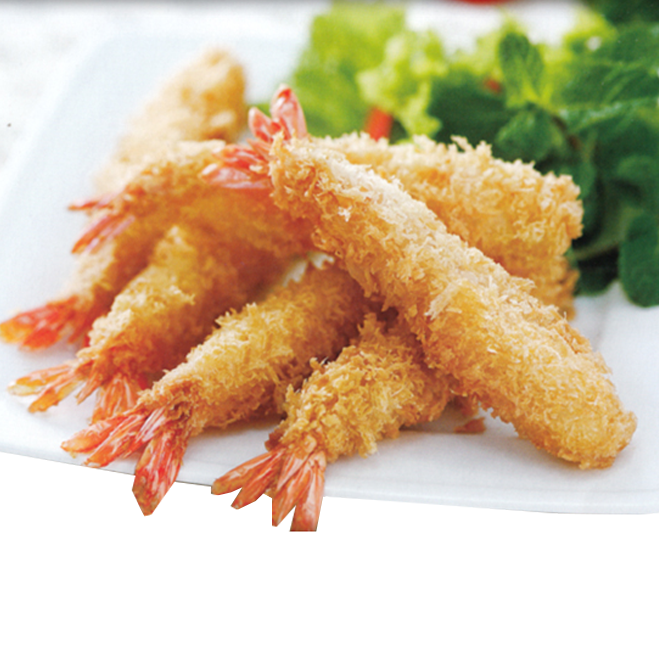 50g per piece Frozen Breaded Shrimp with White Crumb from Vietnam