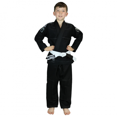 Heavy weight 350 GSM kids 100% cotton BJJ and judo and karate gi kimono by Kwats Sports Wear