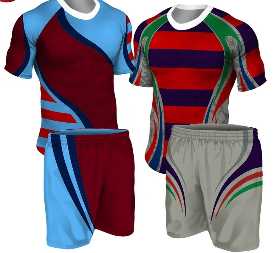 League Rugby Jersey Sublimation Printing Custom Sublimated Team Set Rugby Jersey