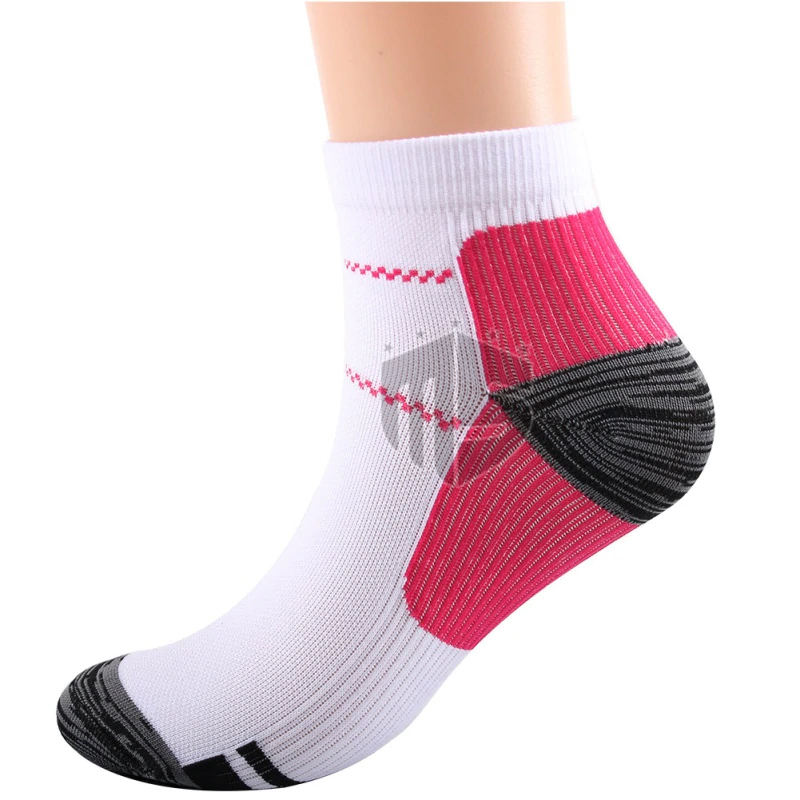 1 Pair Breathable Foot Compression Socks For Plantar Fascists Heel Spurs Arch Pain Comfortable Socks Running Tennis Sports Sock