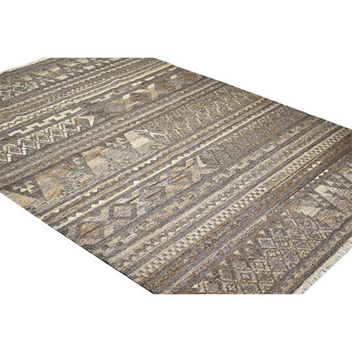 Hand Knotted Wool Rectangle Kitchen Mat Large Brown Carpet gift Rug for Christmas Carpet
