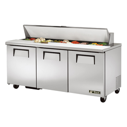 "True TSSU-72-18-HC 72"" Sandwich / Salad Prep Table"