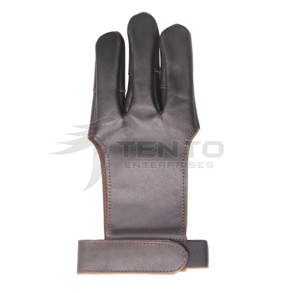 Outdoor Custom Leather Archery Shooting Glove For Bow and Arrow Shooting