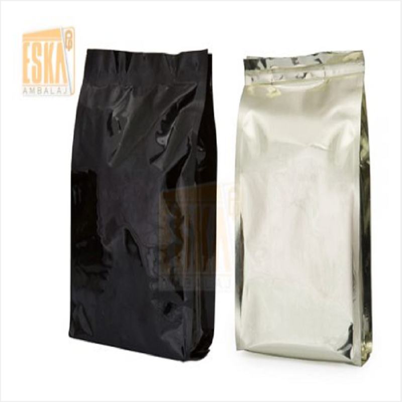 Paper or Plastic Quadro Seal Bag Coffee Pouch