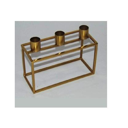 Wholesale Home Decor Candlestick Christmas Gold Geometric Iron Metal Candle Holders For 3 Candlestick