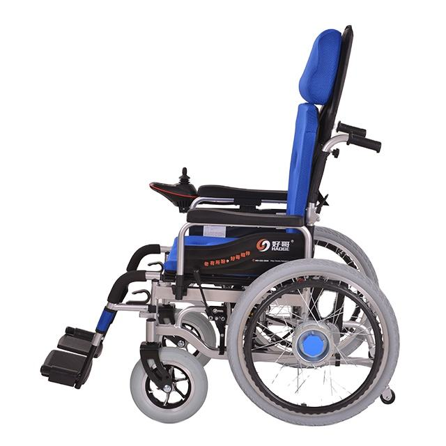 Portable Lightweight Aluminum Foldable Power Wheel chair Cheap Price Disabled Folding Electric
