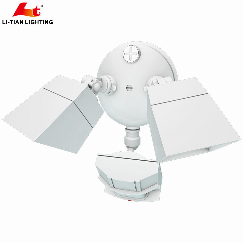 Two Head IP65 Led Security Light With Motion Sensor 20W 30W AC-120V With ETL DLC approved