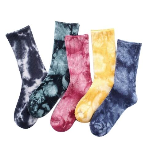 2020 Fashion Wholesale Tie Dye Socks for Men and Women