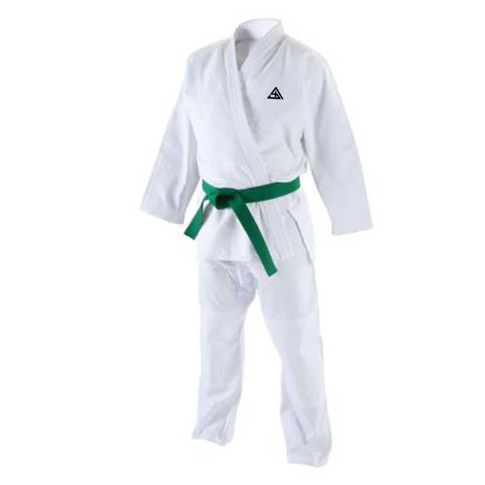 Sports Wear Plain Design Martial Art Wear Judo Uniform Hot Product Karate Training Judo Uniform With Green Color Karate Belt