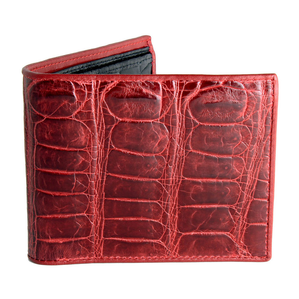 Classic leisure leather contrast color wallet for men
